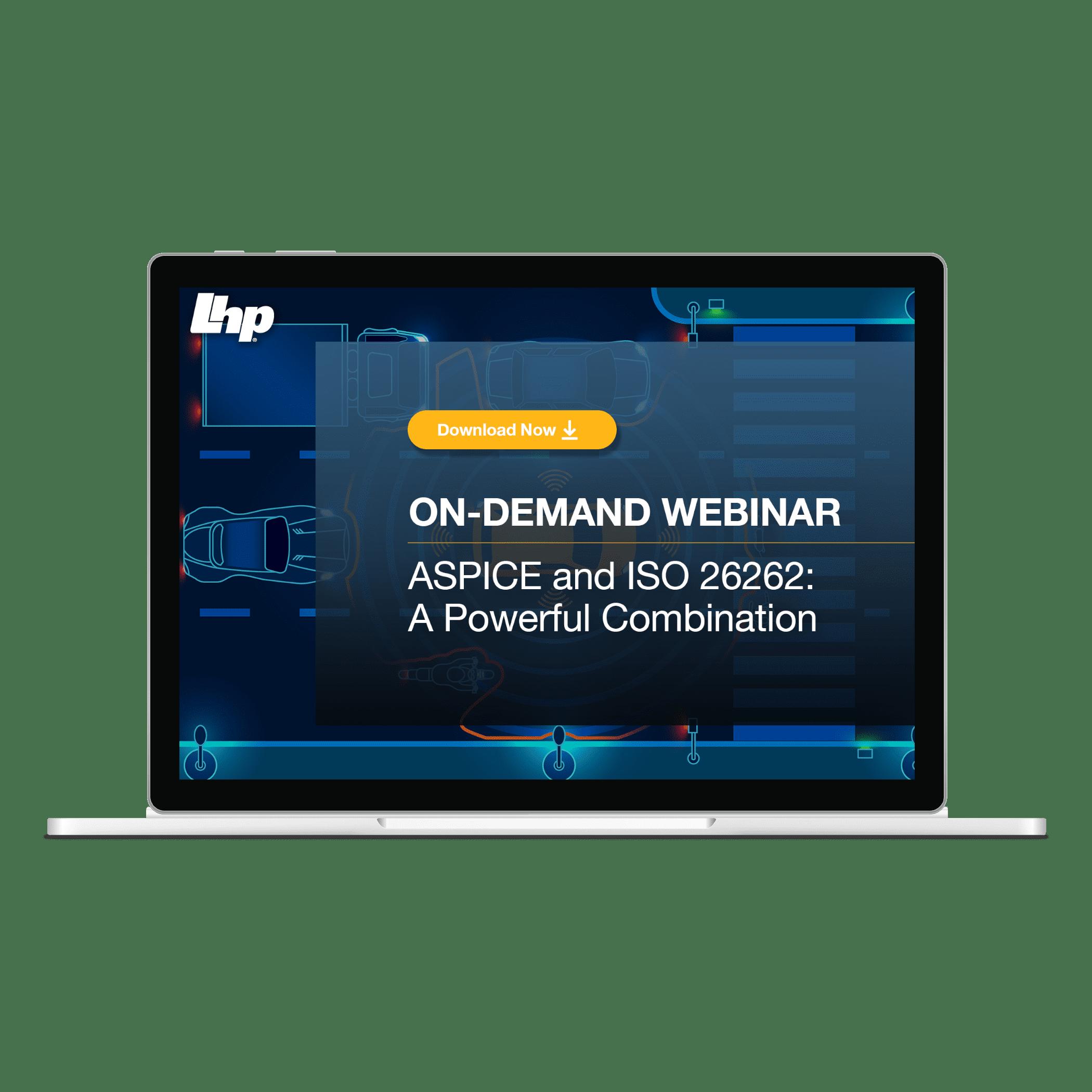 On Demand Webinar - ISO 26262 & ASPICE: A Powerful Combination